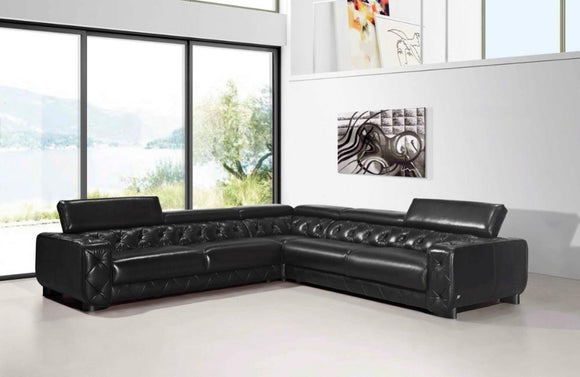 Gia Italian Leather Sectional Sofa