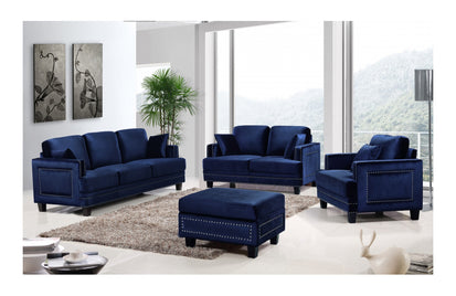 Cliff Navy sofa set -Buy ($900) in a modern furniture store ...