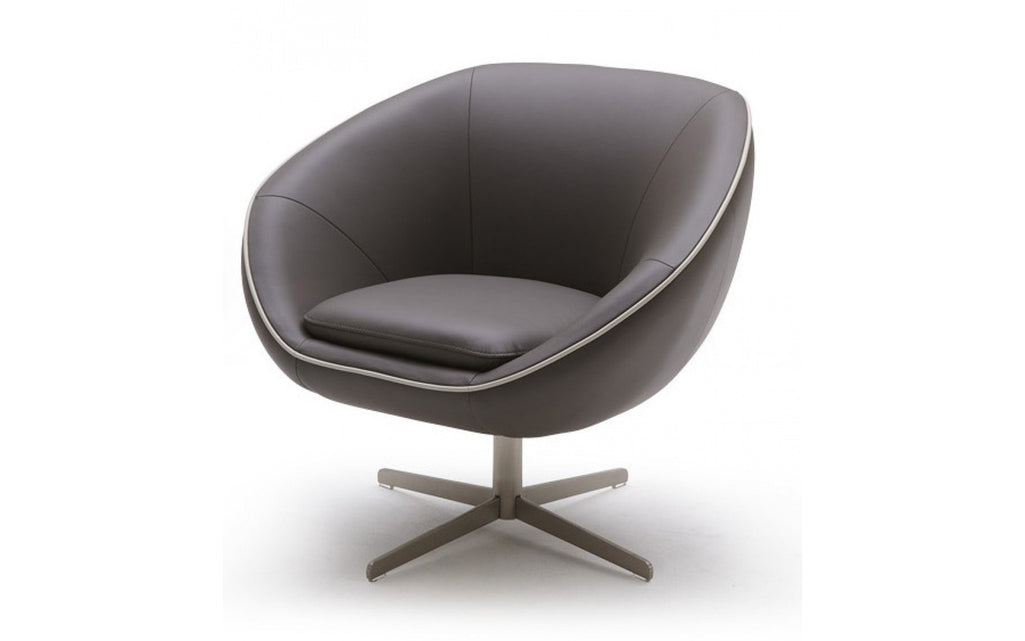 divani casa willow modern leather swivel lounge chair buy 749