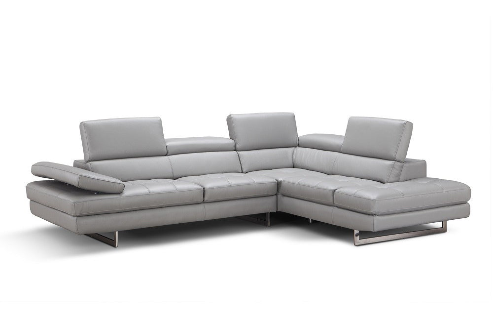 Sarah Leather Sectional Sofa Left Facing Buy 3822 In