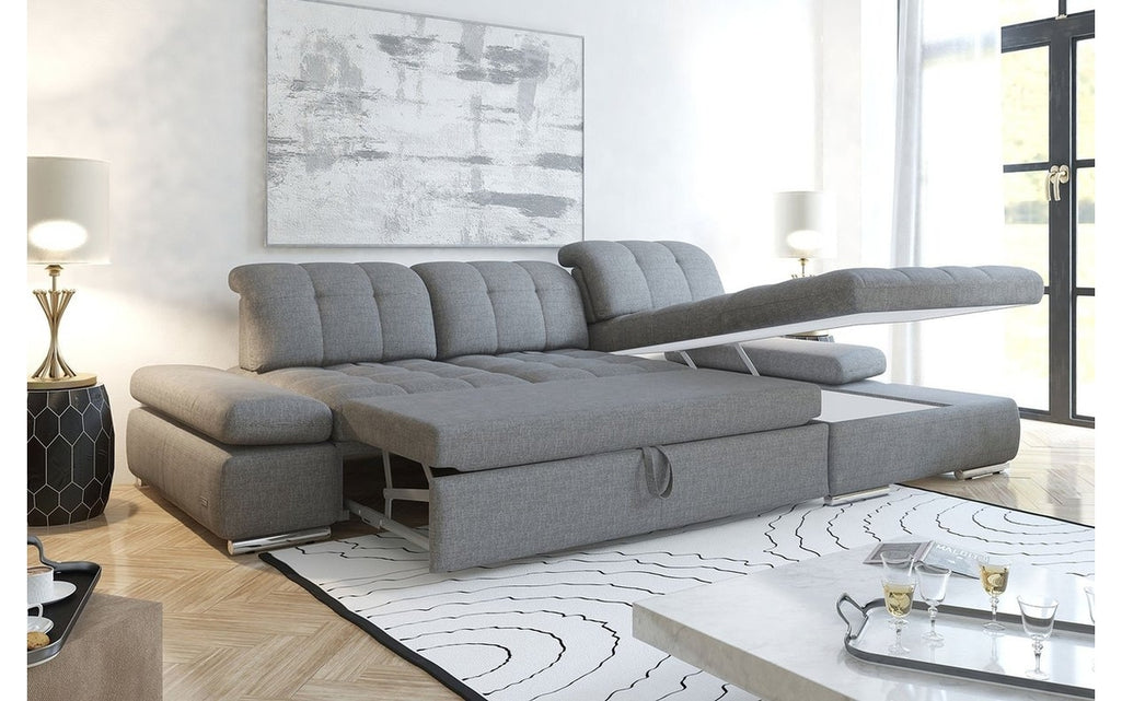 Sofa modern grau  Alpine Fabric Sectional Sofa in Grey | Casa Eleganza in Fairfield, NJ