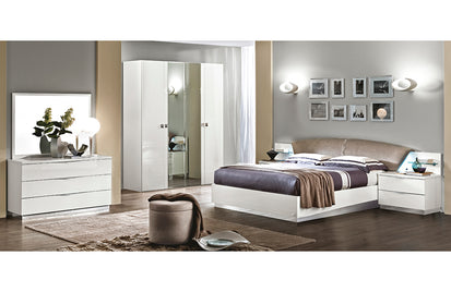 Amanda White Modern Bedroom Set Queen Buy 1274 In A