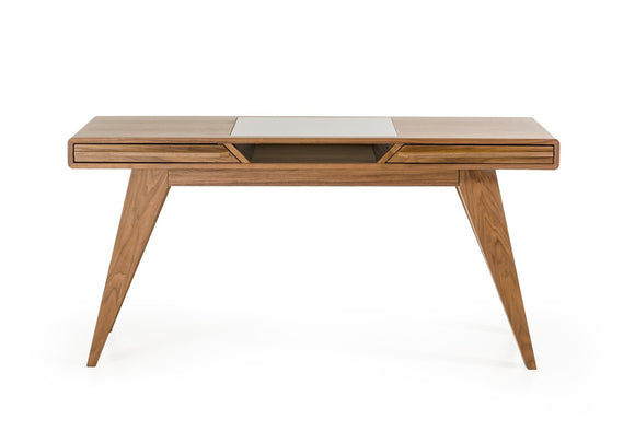 Soria Modern Walnut Desk