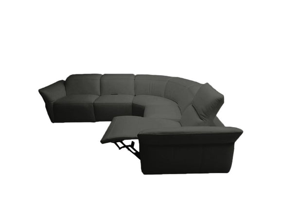 Dakota Modern Leather Sectional Sofa