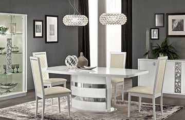 Victor White Dining Set