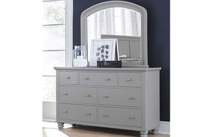 Cambridge Double Dresser and Mirror Gray