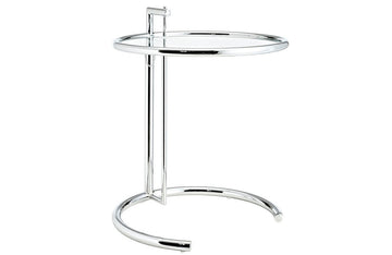 Weston Gray Side Table in Silver