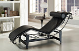 Luca Leather Chaise Lounge Chair