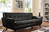 Ryleigh Modern Engage Bonded Leather Sofa