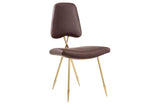 Camille Upholsterd Leather Dining Side Chair
