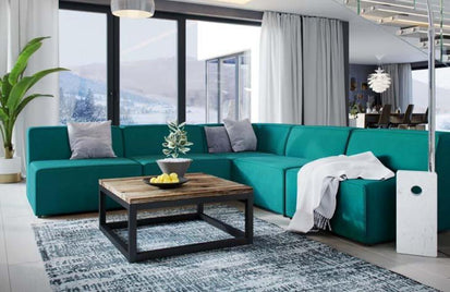Incredible Diana Mingle 5 Piece Upholstered Fabric Armless Sectional Beatyapartments Chair Design Images Beatyapartmentscom