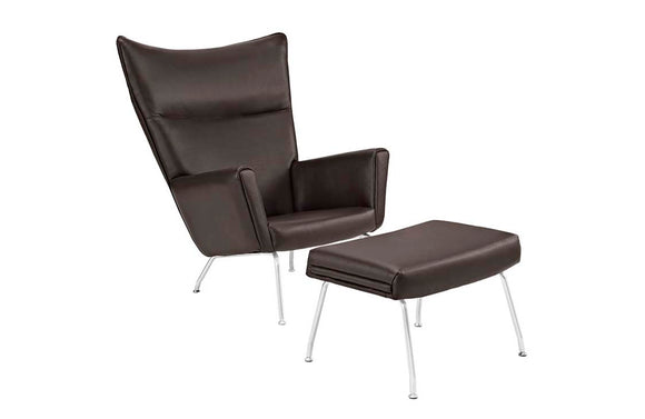 Erin Upholsterd Leather Lounge Chair