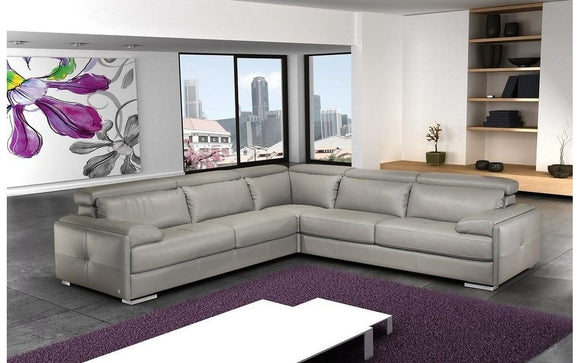 Gary Italian Leather Sectional Sofa