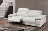 Grace Modern Gray Leather Reclining Sofa