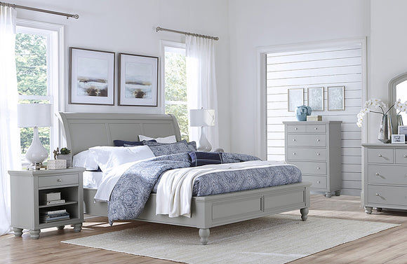 Cambridge Sleigh Bed Gray