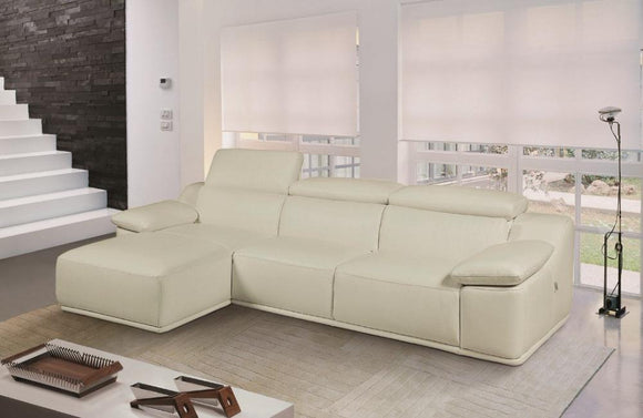 Corey Modern Leather Sectional Sofa