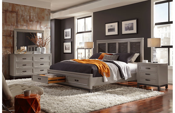 Hyde Park Liquid Panel Storage Bed