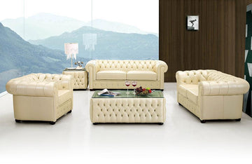 Jenna Modern Leather Sofa Set