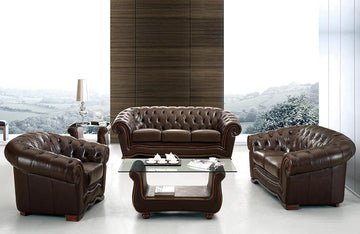 Summer Leather Sofa Set