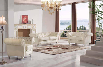 Collin Modern Leather Sofa Set