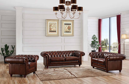Conner Modern Leather Sofa Set -Buy ($4139) in a modern furniture ...