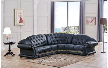 Apolo Black Sectional Sofa