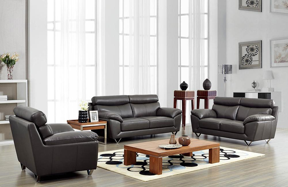 Pleasant Adrianna Modern Leather Sofa Set Download Free Architecture Designs Intelgarnamadebymaigaardcom