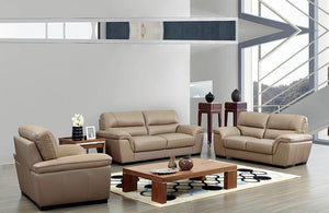 Hadley Modern Leather Sofa Set