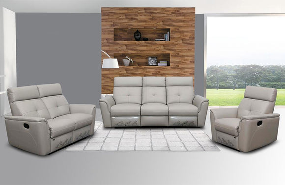 Julianna Modern Recliner Leather Sofa Set