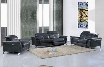 Delilah Modern Recliner Leather Sofa Set