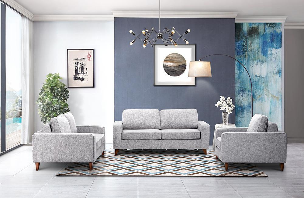 Bradley Modern Fabric Sofa Set
