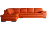 Santino Orange Leather Sectional Sofa