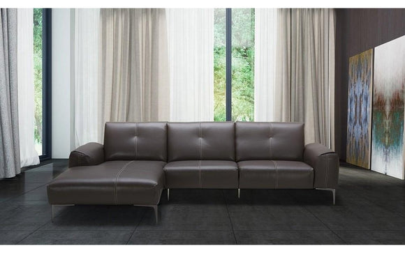 Metro Premium Brown Leather Sectional Sofa