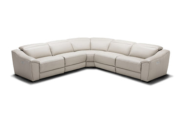 Milan Silver Grey Motion Sectional Sofa