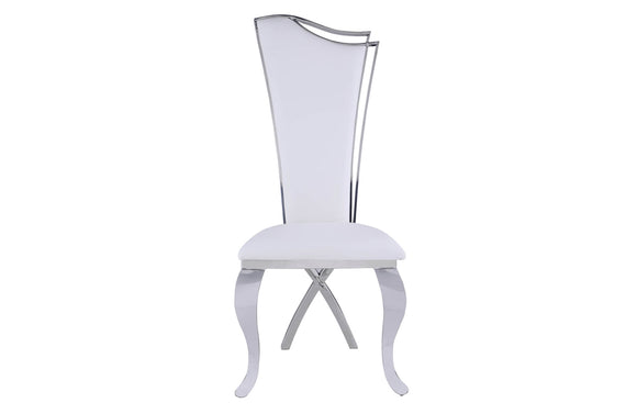 Zarah Dining Chair White Leather