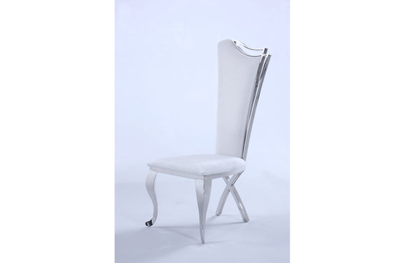 Zarah Dining Chair White Fabric