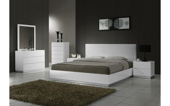 Naples White Bedroom Set