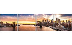 Premium Acrylic Wall Art New York Sunset