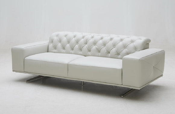 Jacoby Premium Modern White Leather Sofa