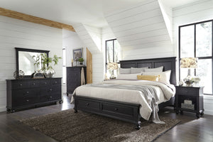 Oxford Panel Storage Bed Black