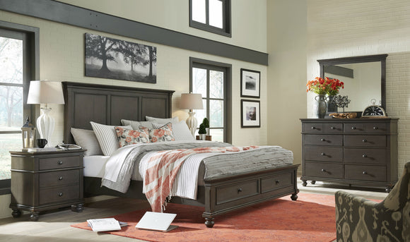 Oxford Panel Storage Bed Peppercorn
