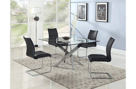 Layton and Nicia Black 5 PC Dining Set