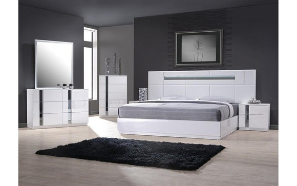 Palermo White Bedroom Set