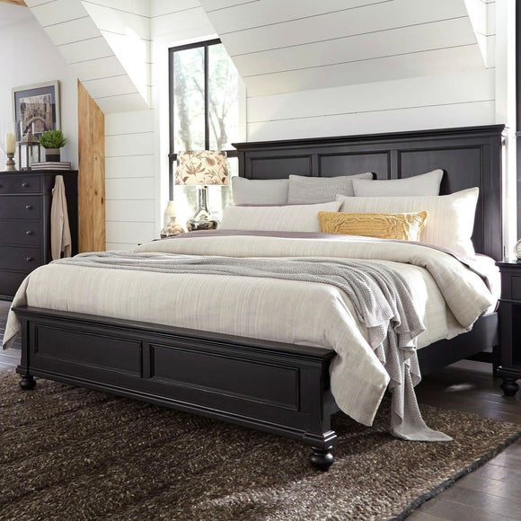 Oxford Panel Bed Black