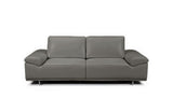 Roxanne Modern Leather Loveseat