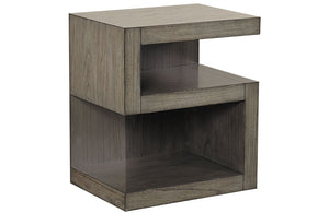 Modern Loft S Shaped Nightstand Greystone