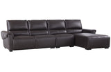 Aldous Brown Leather Sectional Sofa