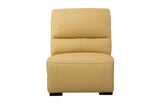 Aldous Mustard Leather Armless Chair