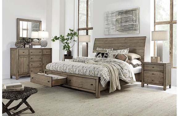Tildon Sleigh Storage Bed