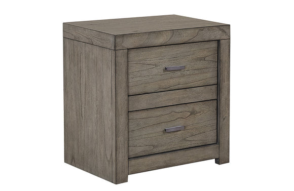 Modern Loft Two Drawer Nightstand Greystone
